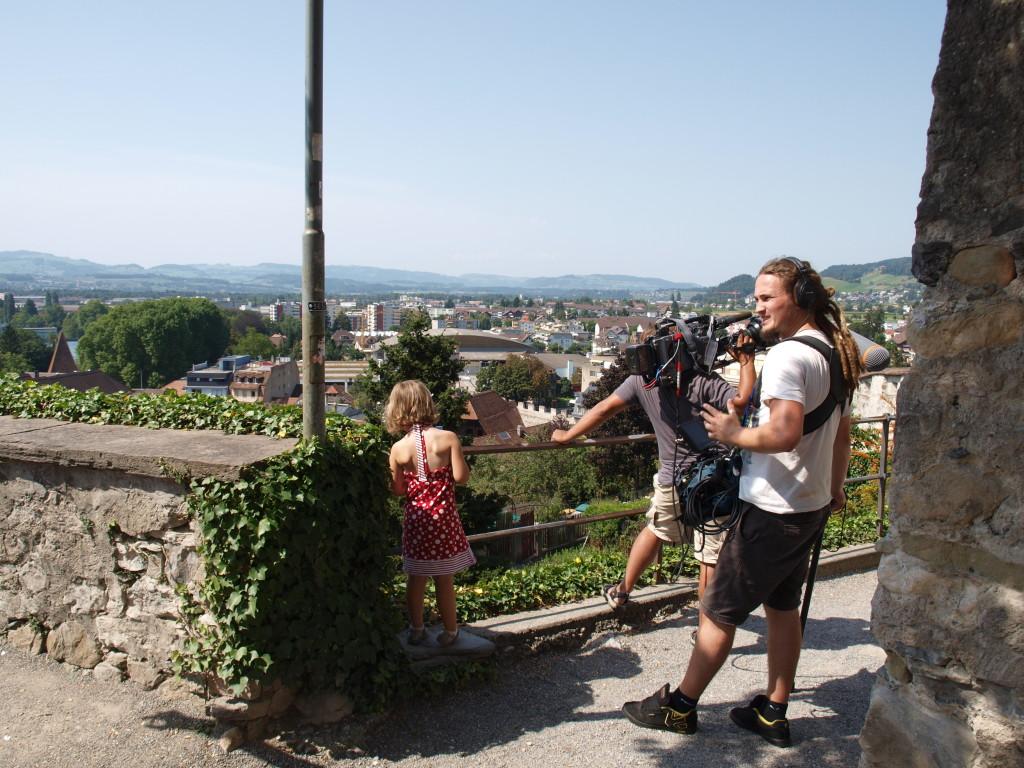 Met de Campinglife-crew bij het kasteel van Thun
