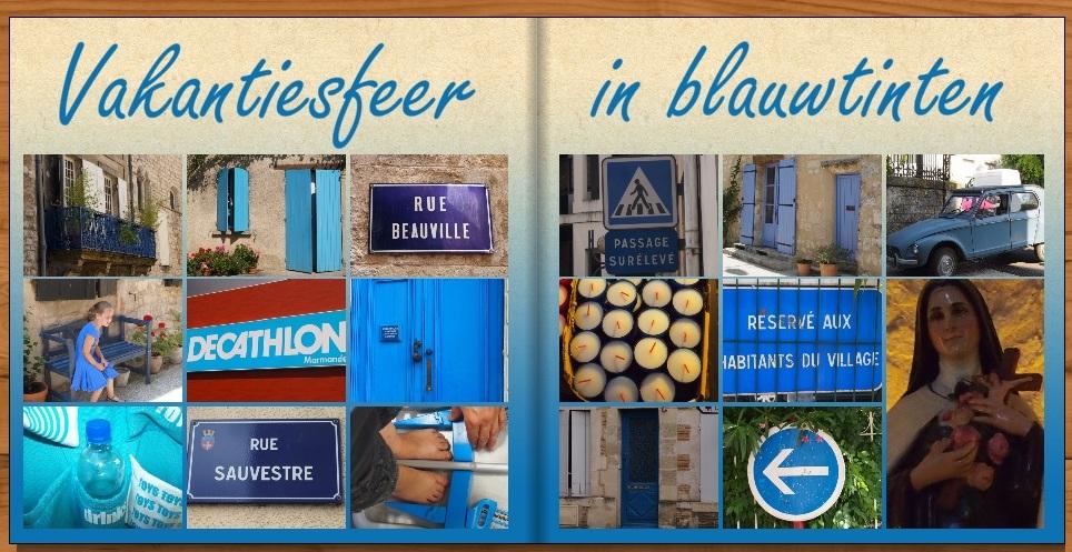 Kleurenthema: vakantiesfeer in blauwtinten
