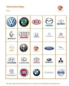 Spel - automerken bingo - KidsErOpUit: kidseropuit.nl/en-dat-is-bingo/spel-automerken-bingo-3