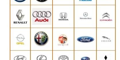 Automerken bingo voor onderweg