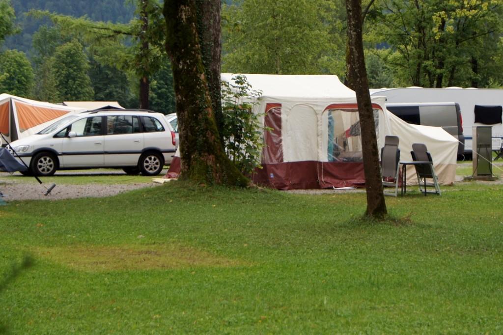 De vouwwagen die Linda en haar gezin mogen gebruiken.