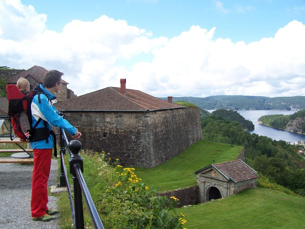 Uitzicht vanaf Fort Frederiksten
