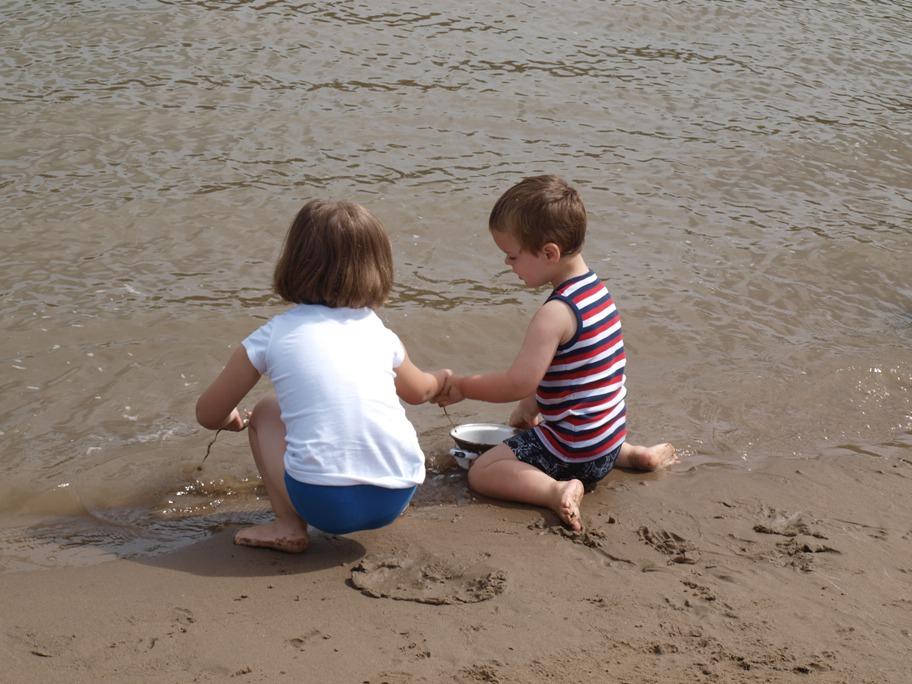 er op uit met kinderen, Deventer, IJssel