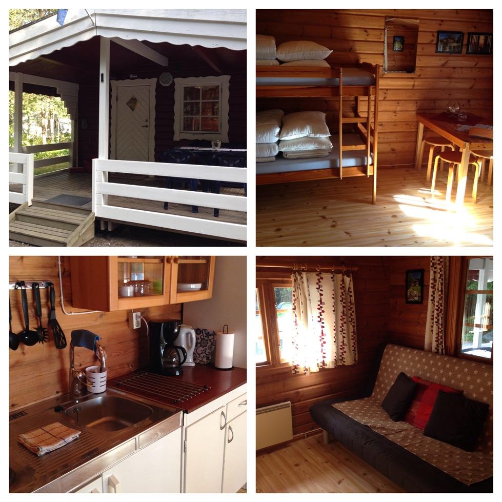 Het interieur van de Comfort Stuga op Camping Tiveden.