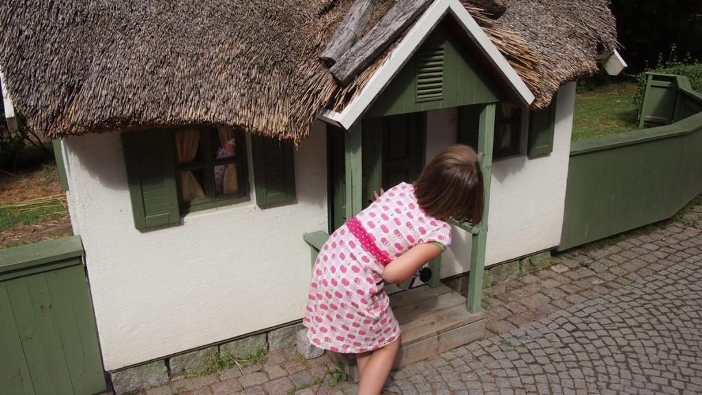 Mini huisjes voor mini bezoekers in Astrid Lindgren Värld.