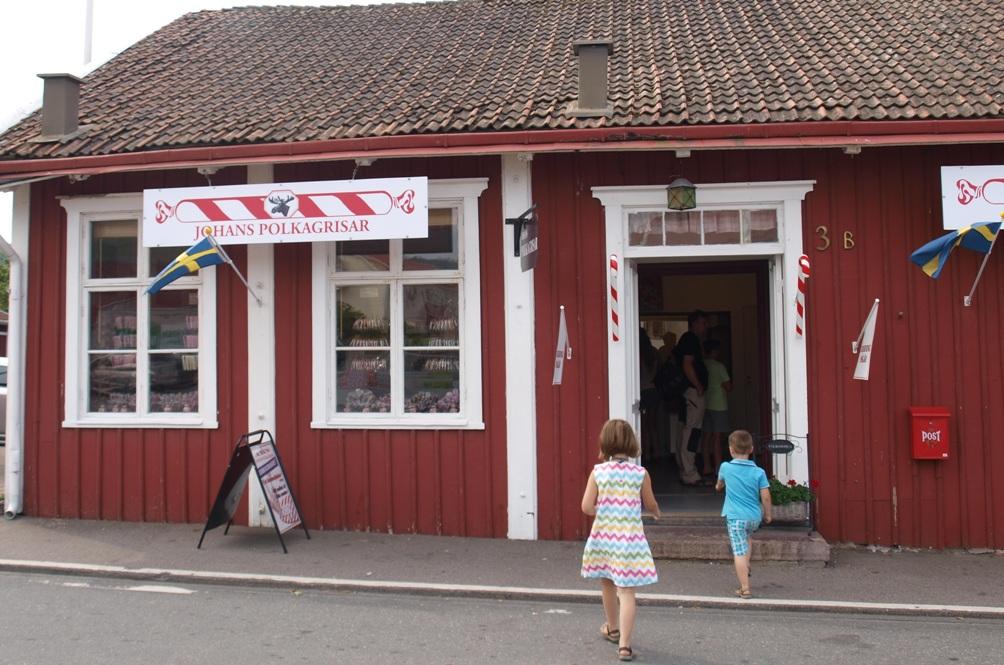 Schattig snoepwinkeltje in Gränna ontdekt.