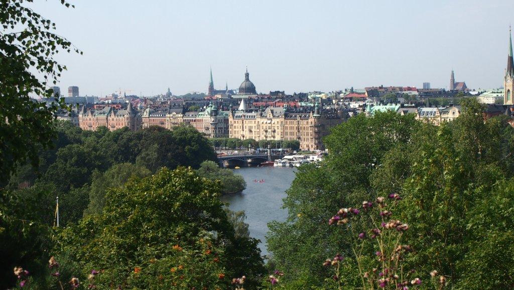 Vanaf Skansen heb je een prachtig uitzicht over Stockholm.