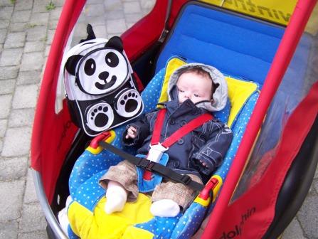 Er passen twee kinderen in een fietskar. Een baby kan in een babyschaal, maar ook in een Maxi-Cosi alleen is er dan geen plek meer voor een 2e kind.