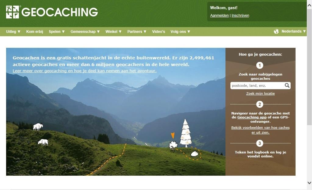 Geocaching met kinderen: begin op geocaching.com en ga op zoek naar een cache bij jou in de buurt.