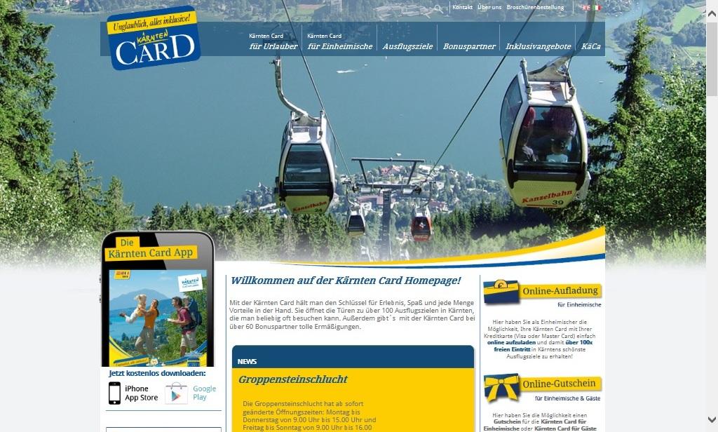 Bekijk de website van KarinthiëCard voor alle mogelijkheden.