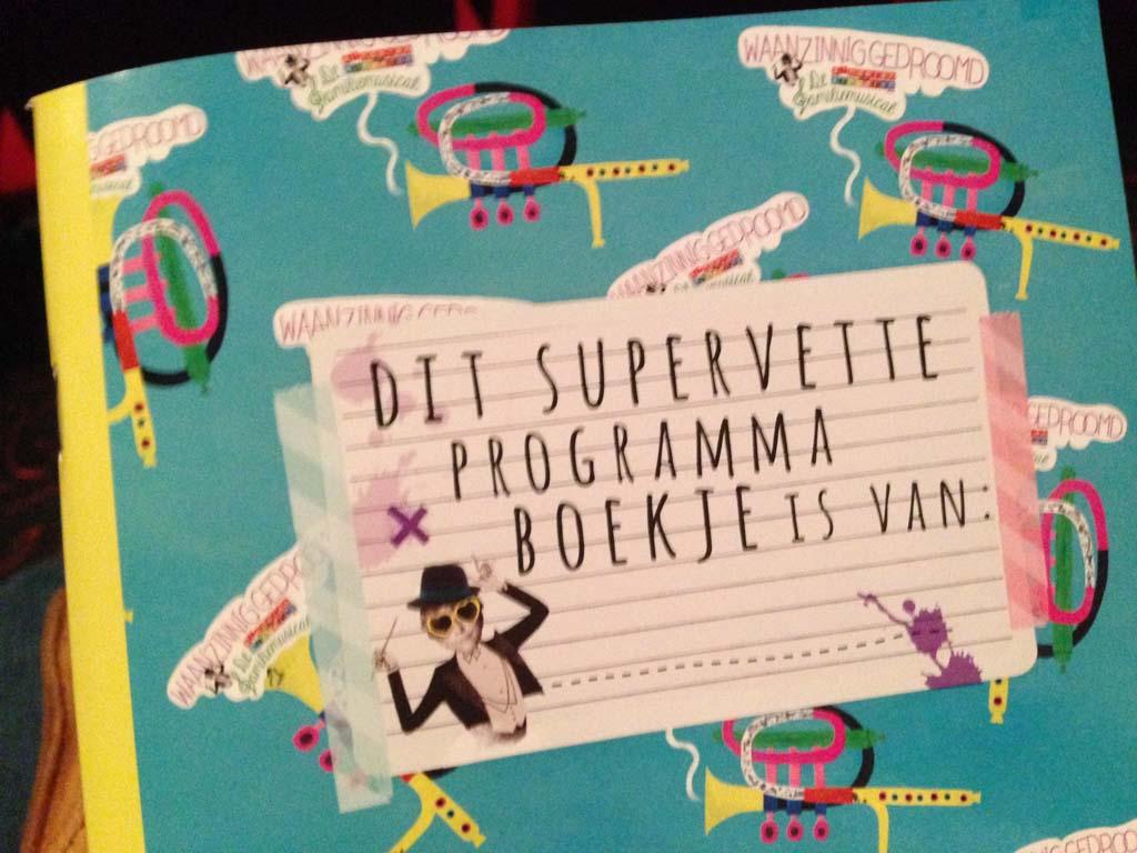 Voor 3 euro koop je je eigen supervette programmaboekje.