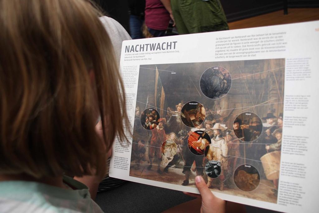 De Nachtwacht wordt op een toegankelijke manier gepresenteerd aan kinderen.
