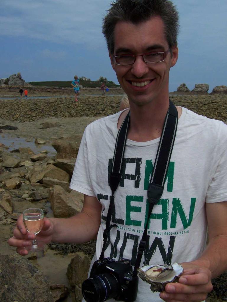 Heerlijk: oesters en chablis.