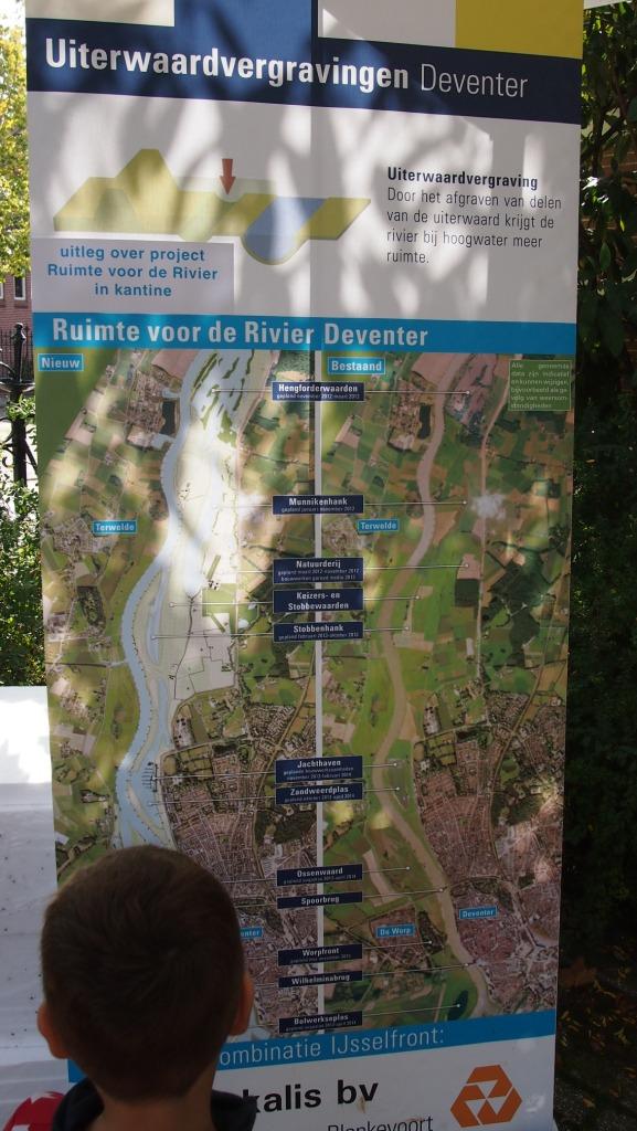 Weekend van de wetenschap: informatie over Ruimte voor de Rivier bij Deventer,