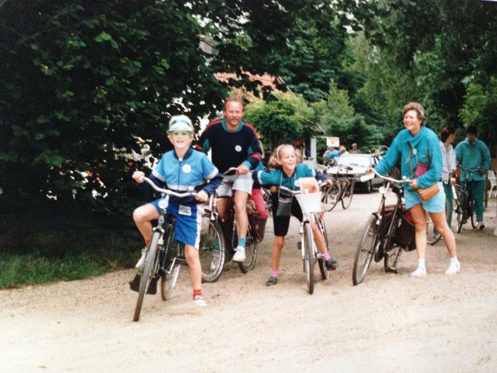 De Veenendaalse Fietsvierdaagse in 1989.