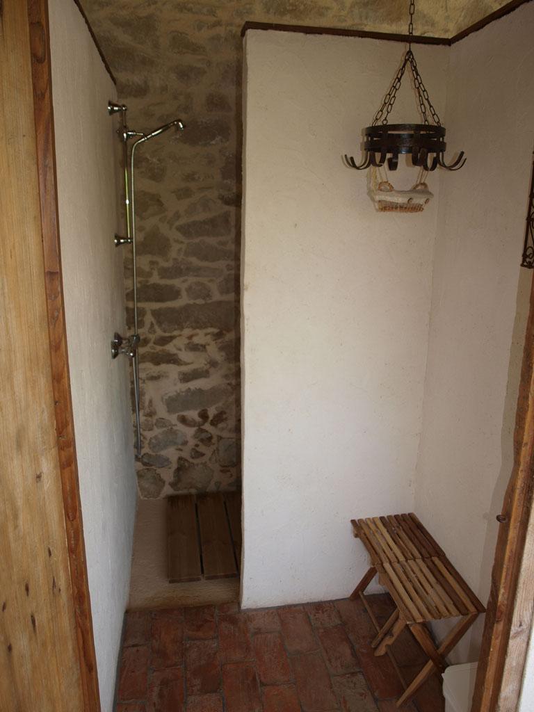 Een van de douches.