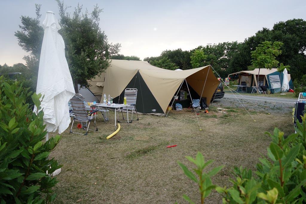 Ruime kampeerplek en dat in Italië!