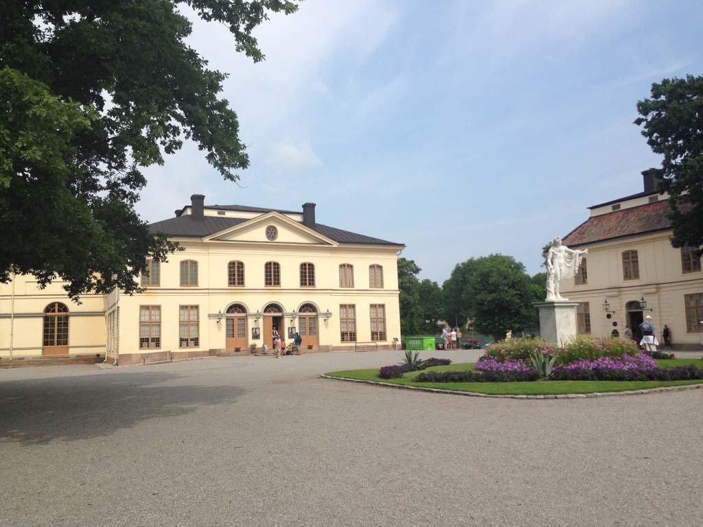 Het koninklijke theater van Drottningholm Slott.
