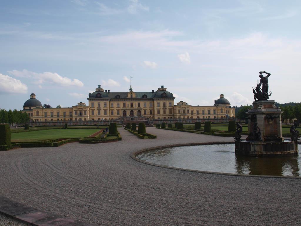 Zicht op Drottningholm Slott.