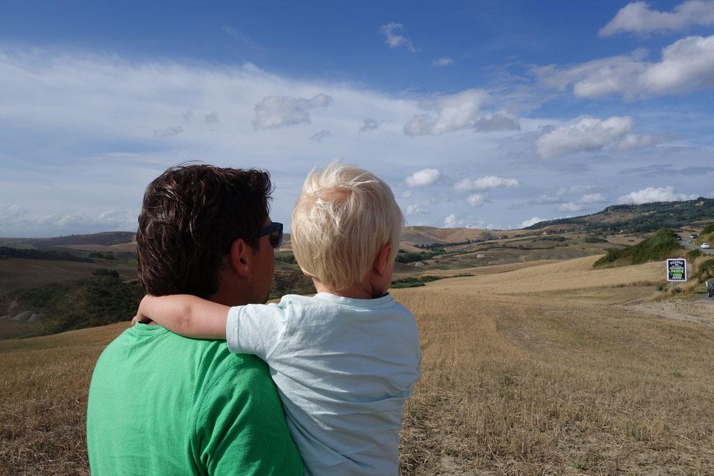 Genieten van het Toscaanse landschap.