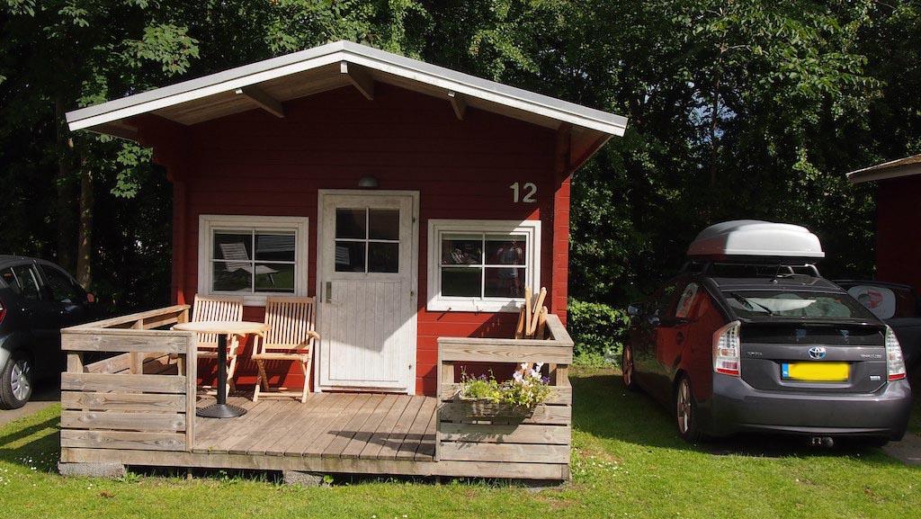 Onze hut op Hillerod Camping.