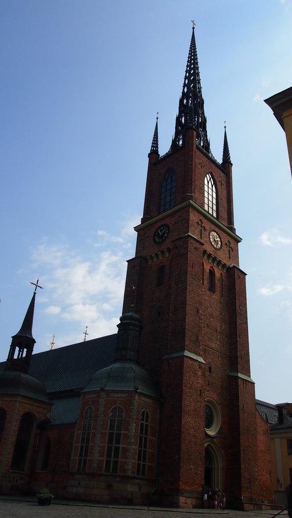 De kerk op Riddarholmen.