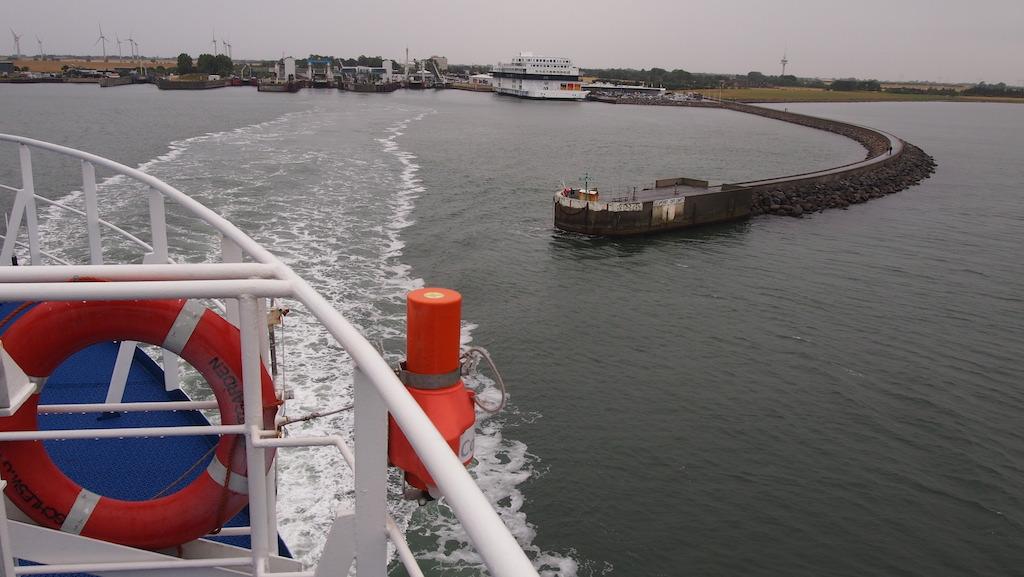 Met de boot naar Denemarken.