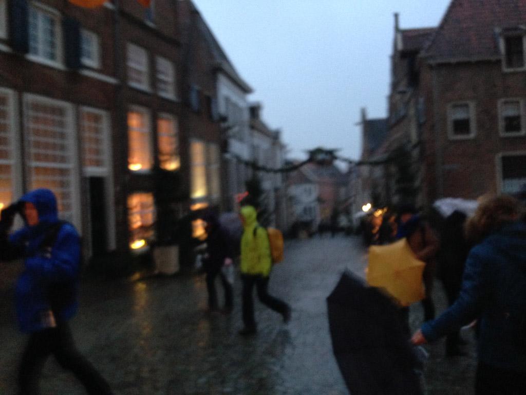 Dickens Festijn bij slecht weer