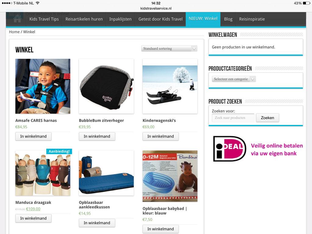 Geen zin om te huren? Kids Travel Service heeft ook een webshop.