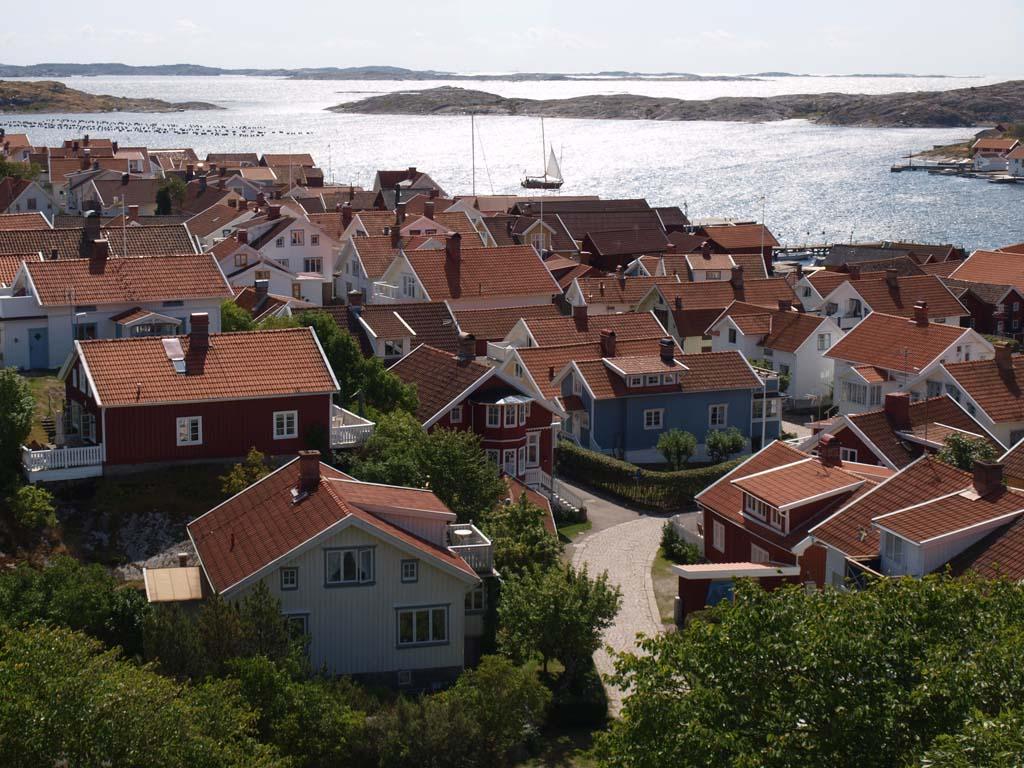 Uitzicht op Mollösund aan de ene kant.