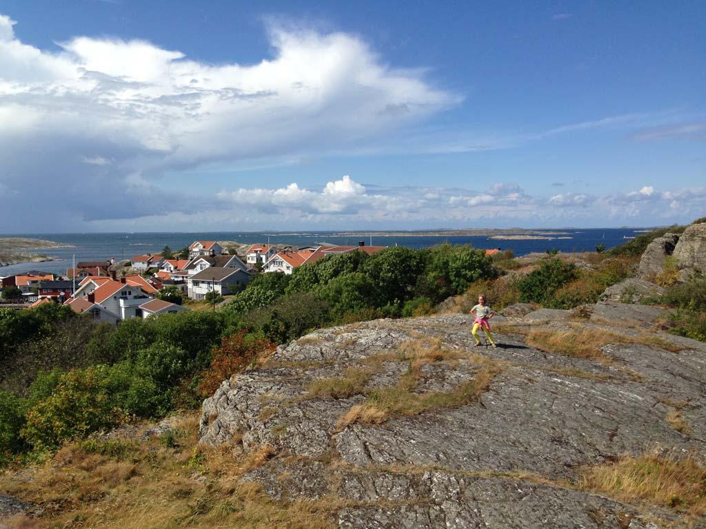 Het uitzicht op de Zweedse kust aan de andere kant.