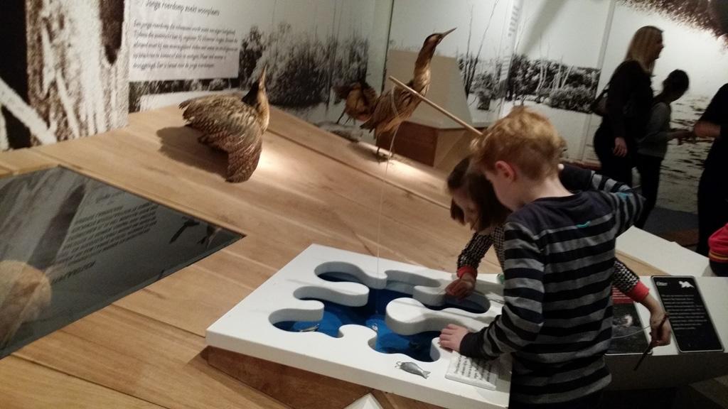 Vissen vangen in het Museon