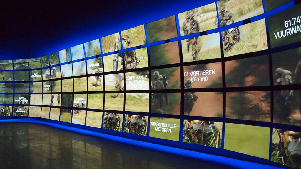 Op tv schermen leren we over de Nederlandse krijgsmacht.