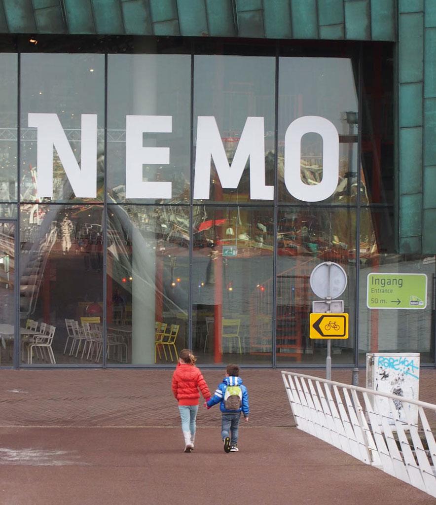 De entree van NEMO