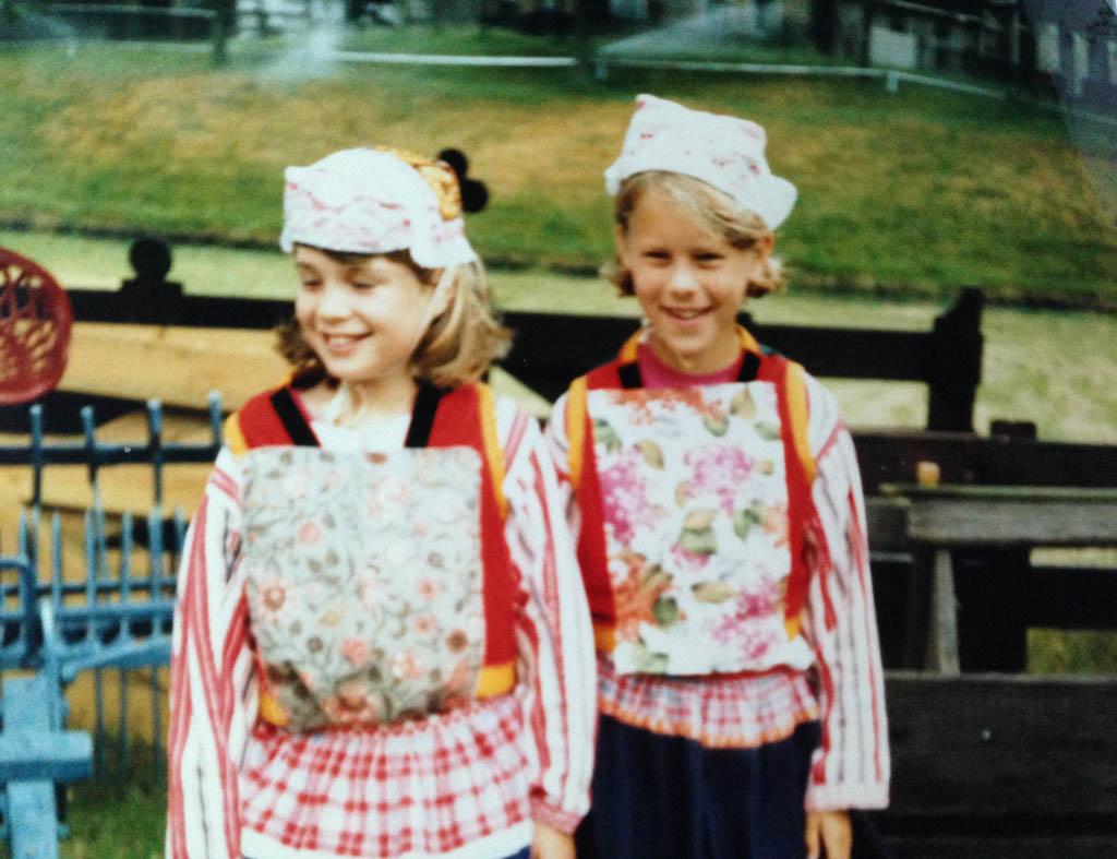 1989: tijdens een schoolreisje in het Zuiderzeemuseum. Ik sta rechts.