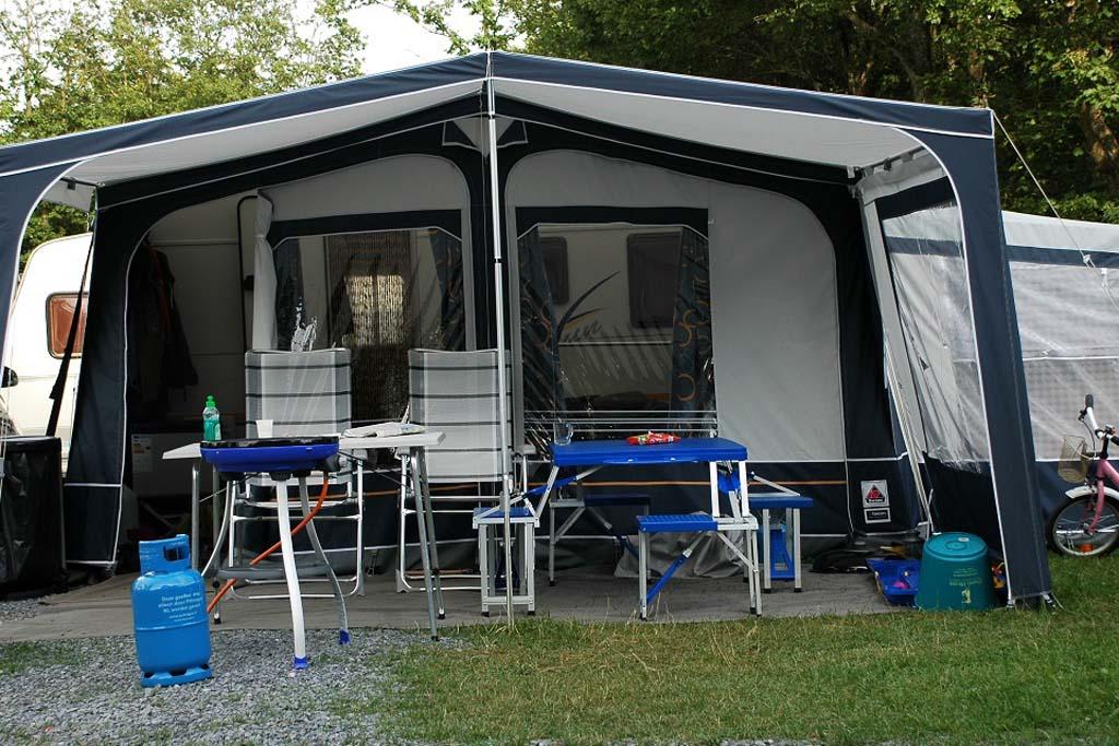 De kampeerplek van Mandy op Camping Fuussekaul.