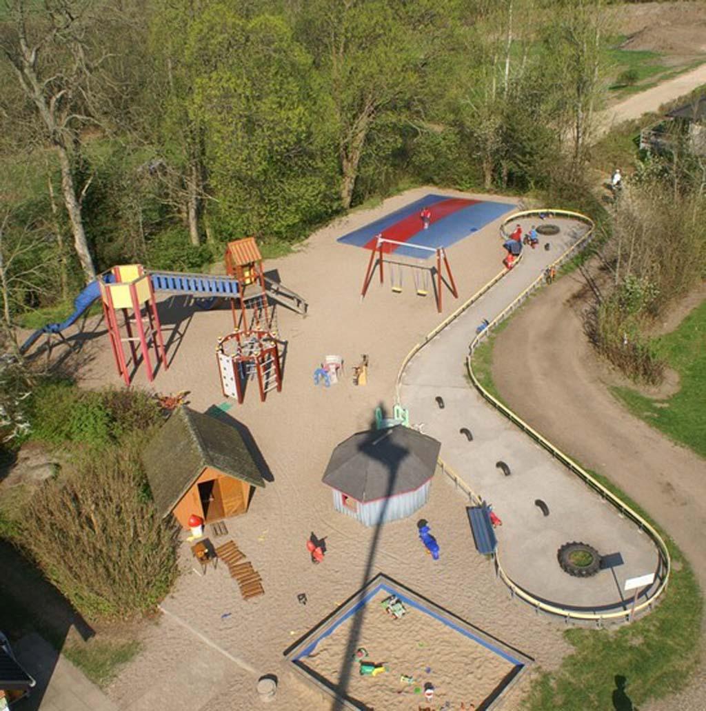 De speeltuin van bovenaf (bron: website camping).