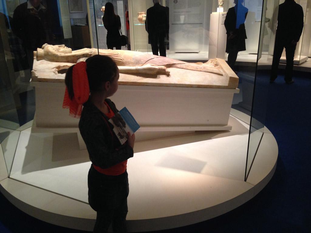 De tentoonstelling over Carthago was niet aantrekkelijk voor de kinderen.