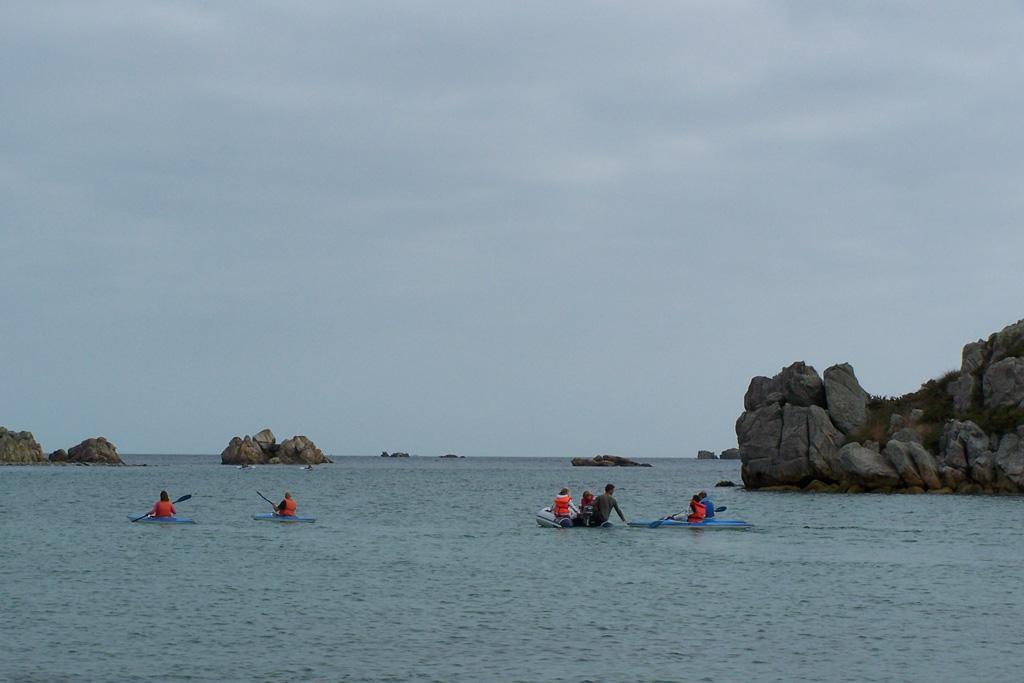 Een ommetje op open zee.