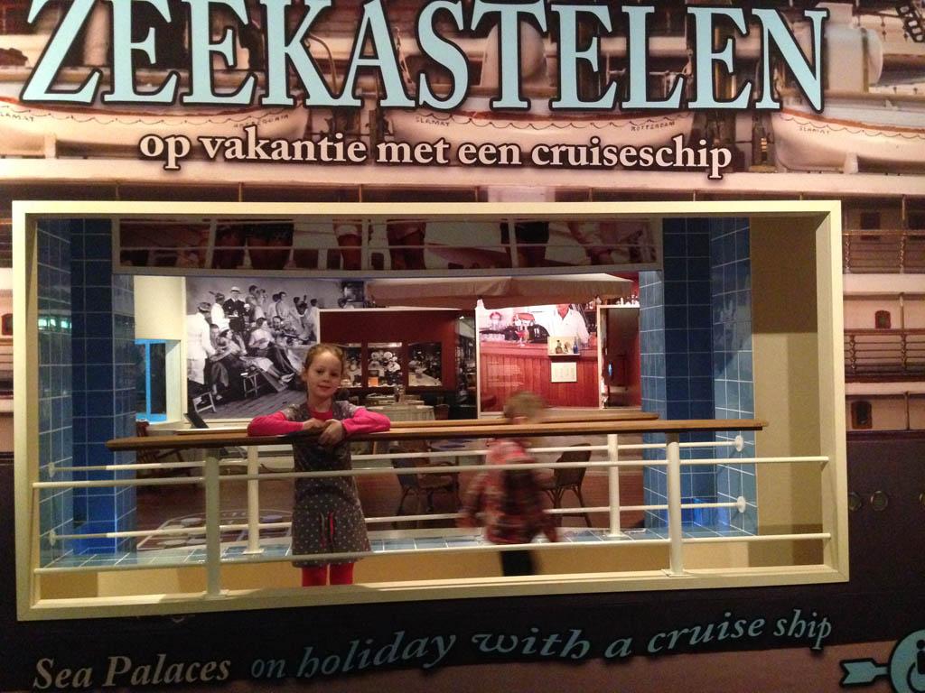 Het favoriete onderdeel van onze kinderen: de tentoonstelling over cruiseschepen.