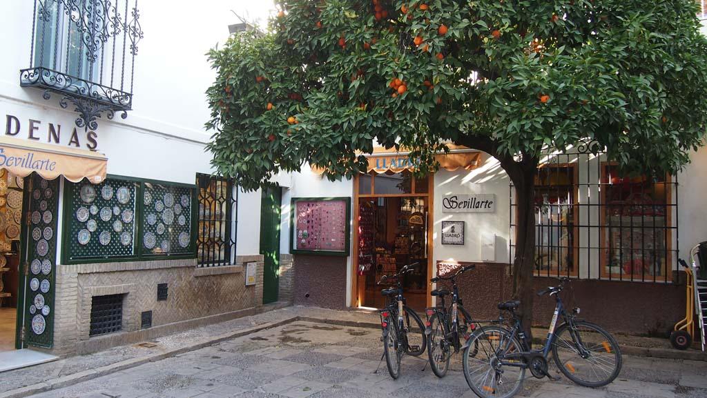 Fietsen door Sevilla met BajaBikes. Aanrader met grotere kinderen.