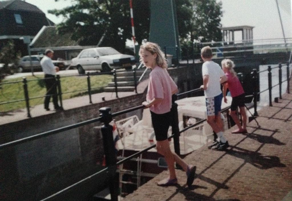 1992: ergens onderweg tijdens de Zaanstadse Fietsvierdaagse.