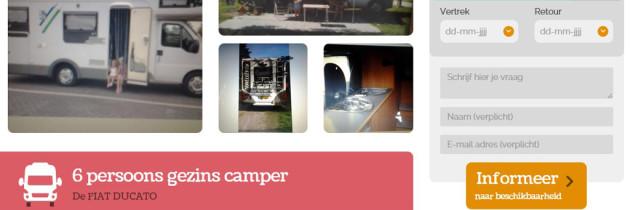 Camper huren bij Camptoo: wij gaan het doen!