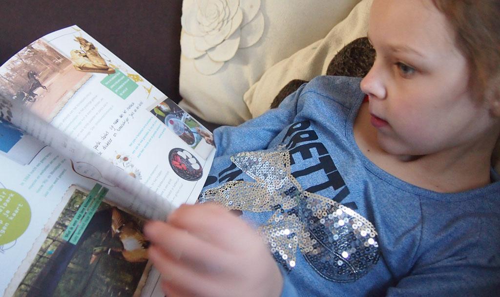 Maureen (7) was erg te spreken over het boekje.