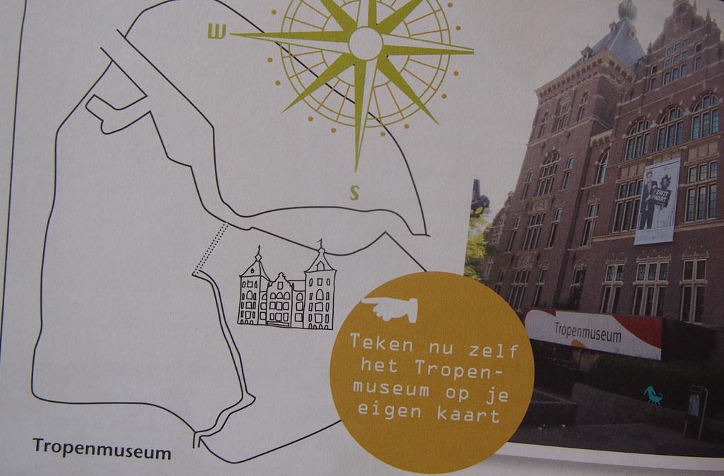 Teken zelf het Tropenmuseum of een van de vele andere bezienswaardigheden op de kaart.