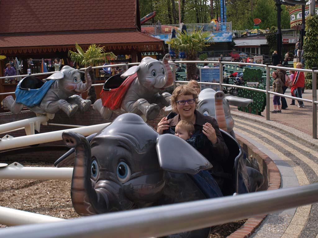 Een ritje met de olifanten,
