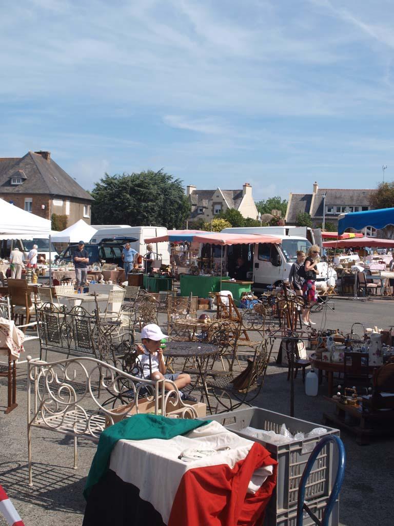 Brocante markt in Tregastel.