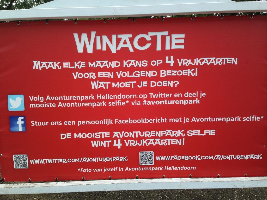 Met de actie van C1000 gingen we met 15 euro korting naar Avonturenpark Hellendoorn. Daar troffen we ook de tip om mee te doen aan een winactie en zo kaarten te winnen.