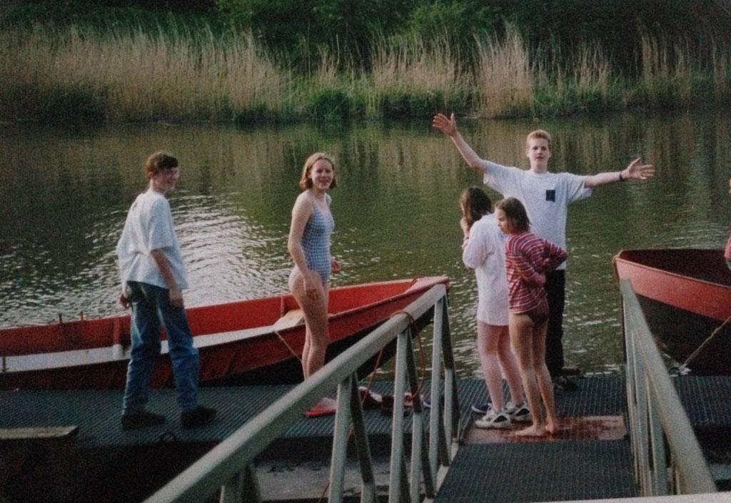 Lol op het eiland in de Biesbosch bij NIVON-huis De Kleine Rug.