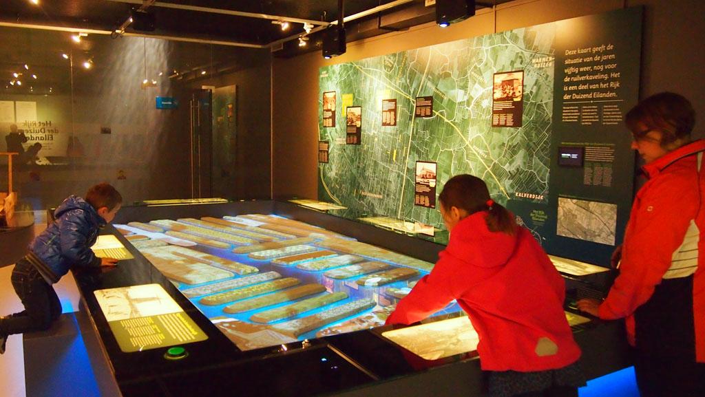 De expo ruimte van het Rijk der duizend eilanden.